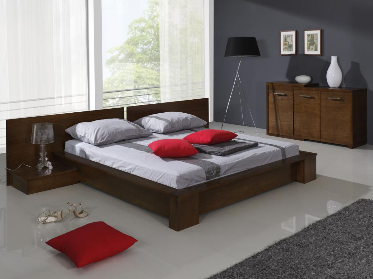Modern tömörfa ágykeret
